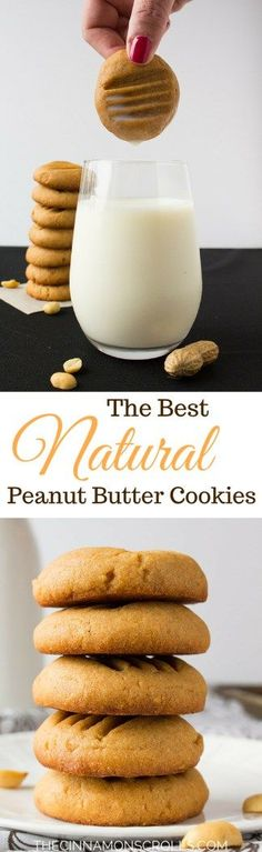 The Best Natural Peanut Butter Cookies |