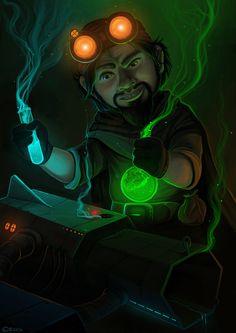 Gnomish engineer, Brissinge Shadowmoon on ArtStation at https://www.artstation.com/artwork/3qVJo
