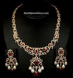 Collar de diamantes ~ Últimas Jewellery Designs