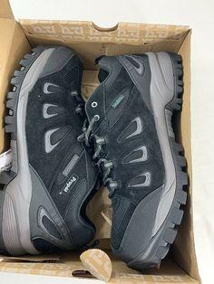 Propet Men's Ridge Walker Low M3598 Black Suede Waterproof Hiking Shoes Sz 15XX #Propet #LowHikingBoot