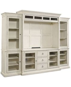 Sag harbor white wall unit bookcases, entertainment deck & entertainment console) in 2019 Living Room Entertainment Center, Entertainment Furniture, Home Entertainment, Entertainment Products, Diy Living Room Decor, Living Room Storage, Living Room Tv, Console Furniture, Diy Furniture