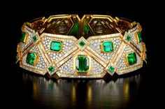 Emerald & Diamond Bracelet - Maker Unknown.