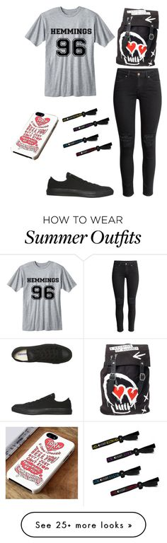 """I WANT THIS OUTFIT SO BAD"" by ilovepenguins604 on Polyvore featuring H&M and Converse"