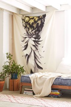 Deb Haugen For DENY Pineapple 1 Tapestry - Urban Outfitters