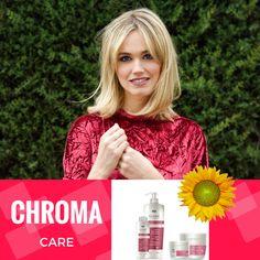 ¿Conoces nuestra línea Chroma Care? Garantiza el brillo de tu cabello teñido y tratado que a menudo se pierde tras varios lavados. Gracias a su fórmula, enriquecida con Extracto de Girasol, Ceramida A y Chroma Care Complex, la luminosidad de tu pelo quedará protegida durante más tiempo