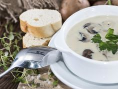 Most Delicious and Highly Undervalued Healthy Soup Recipes Healthy Soup Recipes, Gluten Free Recipes, New Recipes, Parts Of A Recipe, White Mushrooms, Bowl Of Soup, Stuffed Mushrooms, Fresh, Cooking