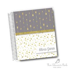 Gold Arrows & Dots Clever Owl Planner