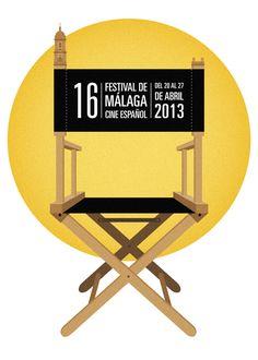 16 Edición Festival de Cine de Málaga by Manolito Garabato, via Behance