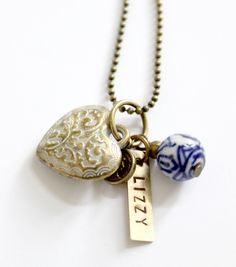 SIERKRACHT » First love Brass Necklace, Personalized Jewelry, Hand Stamped, Necklaces, Shop, Personalised Jewellery, Custom Jewelry, Chain, Wedding Necklaces