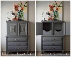 Elegant Grey Dresser #DIY #furniturepainting #paintedfurniture #furniturepaint #homedecor #dresser - blog.countrychicpaint.com
