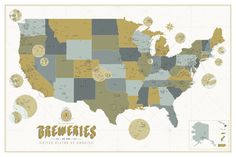 Super detailed map of Breweries in the U.S.! Let's grab a drink!
