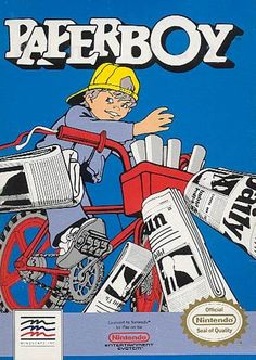 #Paperboy - Label or Box Art #nintendo games #gamer #snes #original #classic #pin #synergeticideas #gameon #play #award