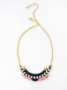 Chevron Bib Necklace by CoralandStone on Etsy