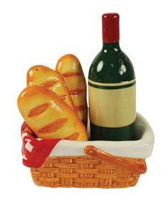 Take a look at this Picnic Basket Salt & Pepper Shaker Set.