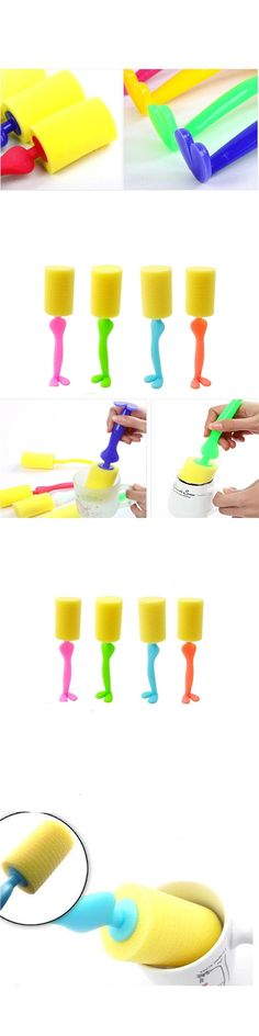 Saingace bottle cleaning brush Kitchen Cleaning Tool Sponge Brush For Wine glass Bottle Coffe Tea Glass Cup*30 2017 GIFT Drop