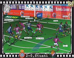RCD Espanyol, 4 - Real Valladolid, 2 - Stuani, 2-0, min.37'