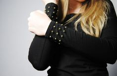20 Lovely DIY Fashion Ideas - DIY Studded Cuff Top
