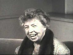 Eleanor Roosevelt speaks out for human rights.  Discusses changing laws and forming a covenant for civil rights.