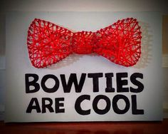"""Bowties Are Cool"" string art  www.facebook.com/AYarnWrappedLife"