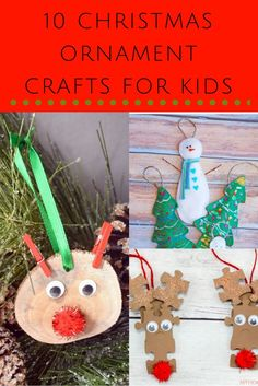 10 Christmas Ornament Crafts For Kids
