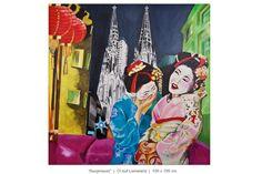 Geishas auf der Strasse in Köln