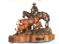 Western Bronzes at Timberline! Horse Sculpture, Animal Sculptures, Bronze Sculpture, Western Wall Decor, Western Art, Cowboy Horse, Southwest Decor, Mexican Designs, Wood Carvings