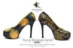 Morena at Mestiza / Brown-skinned and Fair-Skinned by Wanda Bandojo custom shoes / hand painted / pumps Young Designers, Fair Skin, Pumps, Heels, Custom Shoes, Christian Louboutin, Hand Painted, Brown, Fashion