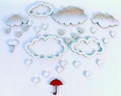 Cloudy wall art by Craig Anczelowitz, via Behance