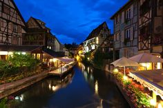 Colmar, Alsace by night