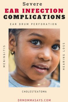 Dr Burton continues her discussion about ear infections and details how improved symptoms may hide developing serious ear infection complications. Gentle Parenting, Parenting Teens, Parenting Advice, Mom Advice, Life Advice, Fluid In Ears, Ear Tubes, Otitis Media