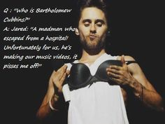 "At first I ignored the quote and looked at Jared like ""Hmm what is he doing?"""