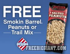 Free Stripes Smokin Barrel Peanuts or Trail Mix-Jan. 12 and 13 Only - http://freebiegiant.com/free-stripes-smokin-barrel-peanuts-trail-mix-jan-12-13/ Currently, Stripes stores are offering a coupon which is good for a free Smokin Barrel Peanuts or Trail Mix bag, but you must be a U.S. resident to claim this coupon.  If you would like to download and print your free Smokin Barrell coupon, simply click here to print via your computer. This...