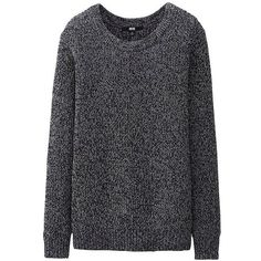 UNIQLO Colour Mixed Sweater (6.370 CLP) ❤ liked on Polyvore featuring tops, sweaters, shirts, jumpers, multi colored sweater, jumper shirt, shirt top, uniqlo tops and multi color shirt