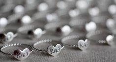 true love ring - sterling silver and stamped with your initials. $27.50, via Etsy.