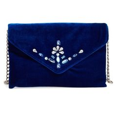 Women's Bp. Jeweled Flap Clutch (€17) ❤ liked on Polyvore featuring bags, handbags, clutches, navy, navy blue purses, navy purse, navy handbags, navy blue handbags and party clutches