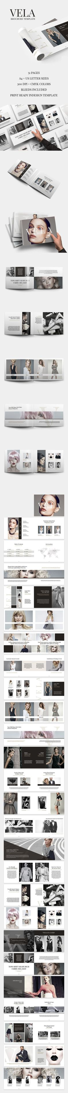 Vela Brochure is an elegant, simple and impressive template for InDesign. It is prepared with a strong fashion theme but thanks to its multi-functionality and easily editable structure you can use Vela Brochure Template for any field you like. Created by @SlideStation on @Creativemarket #brochure #template #fashion #landscape #horizontal