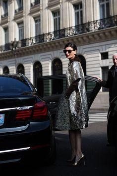 On The Street…. Rue Halevy, Paris ( Metallic Coats & Tights )