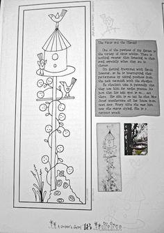 La Tijera de Clío.: Anni Downs Applique Patterns, Applique Designs, Embroidery Applique, Cross Stitch Embroidery, Stitch Patterns, Annie Downs, Patch Aplique, Bird Crafts, Doll Quilt
