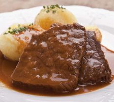 Oven roast - recipe with picture - Recipe: Sauerbraten from the oven picture no. Roast Recipes, Gourmet Recipes, Healthy Recipes, Italian Pasta Recipes, Italian Dishes, Carne Asada, Oven Roast, Pot Roast, Vegetarian Recipes