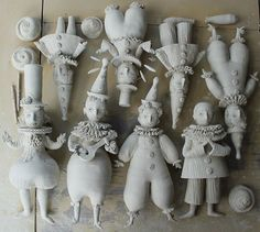 Coming soon, Magic circus by Elya Yalonetski Paper Clay Art, Paper Mache Crafts, Paper Mache Clay, Clay Crafts, Arts And Crafts, Sculpture Clay, Soft Sculpture, Clay Dolls, Art Dolls