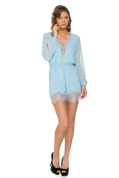STUDIOL9   Lace Mesh Romper - Trendy is the last stage before tacky! http://www.studiol9.com/#!product-page/c6np/a4563658-9706-9787-2f8e-6cb4fa6d86bd