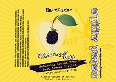 Blackberry gold - tart and tasty with local blackberries and Golden Delicious apples. more info: http://NakedAppleHardCider.com