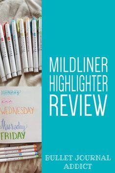 Mildliner Highlighter Review For Bullet Journals - Bullet Journal Supplies For Beginners - Best Bullet Journal Supplies #bujo #bujolove #bujosupplies #bulletjournal #bulletjournalsupplies #bulletjournalideas #bujoideas