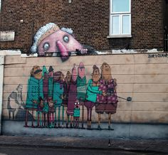 """Street Art Tours"", a new mural by Ador & Semor in London, UK"