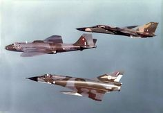 "RAAF ""Canberra"" Mk20 Bomber with ""Mirage III O"" and  F-111C ""Aardvark""."
