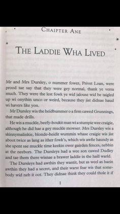 Scottish Harry Potter