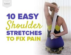 10 Easy Shoulder Stretches To Fix Pain Frozen Shoulder Exercises, Neck And Shoulder Stretches, Shoulder Pain Exercises, Yoga Shoulder, Shoulder Rehab, Shoulder Injuries, Neck And Shoulder Pain, Shoulder Muscles, Shoulder Workout
