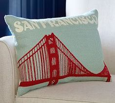 Throw Pillow Inserts Pottery Barn : 1000+ images about City Pillows on Pinterest Polyester throws, Red decorative pillows and ...