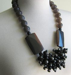 Gray Agate and Freshwater Pearls by NatashaNicholson on Etsy. $950.00 USD, via Etsy.