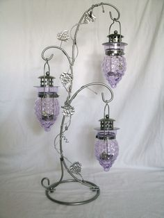 Wiccan Decor Grape Design Pentacle Candleholder, magical metaphysical mystic occult goth witch pagan witchcraft handfasting. $45.00, via Etsy.